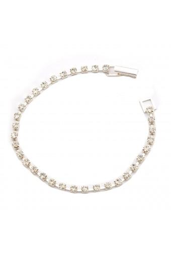 Silver Crystal Line Bracelet