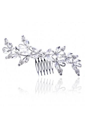 Bridal Silver Rhinestone Bridal Hair Comb