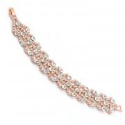 Wedding Bracelet Rose Gold Plating Link Bracelet