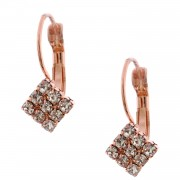 Wedding Earrings Rose Gold Plating Wire Clif Earring