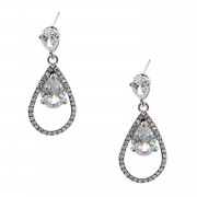 Fashion Jewelry Rhodium Plating Dangle Earrings