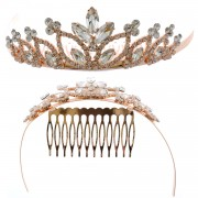 Fashion Accessory Rose Gold  Plating Princess Tiara
