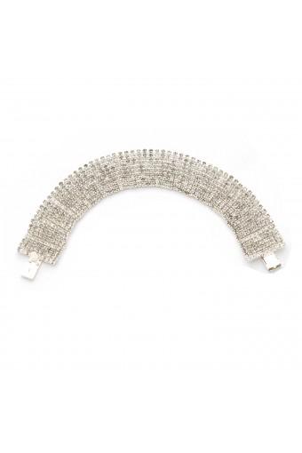Wedding Bracelet 9 Line Silver Crystal Tennis Bracelet