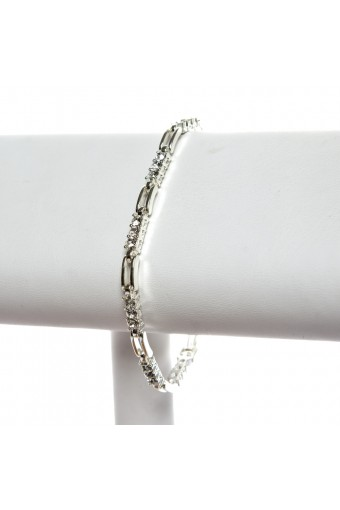 Silver Crystal Square Bracelet