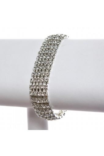 Silver Crystal 5 Line Bracelet