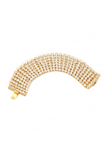 Wedding Bracelet 9 Line Gold Crystal Tennis Bracelet