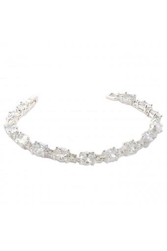 Topwholesalejewel Bridal Jewelry Silver Crystal Cubic Zirconia Link Bracelet For Wedding