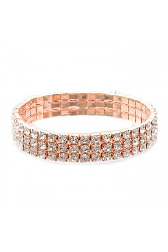 Wedding Bracelet Rose Gold Plating Stretch Bracelet