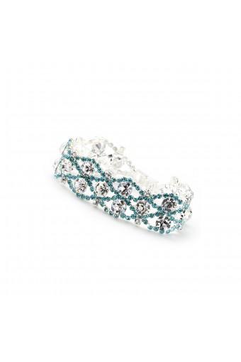 Silver Aqua Rhinestone Tennis Bracelet