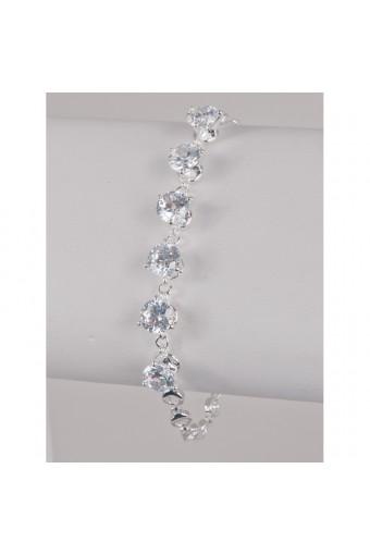 Silver Crystal Cubic Zirconia Bracelet