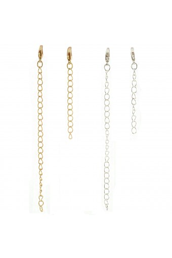 Topwholesalejewel Silver Gold Chain Extender Set For Necklace or Bracelet 2 inch,4 inch(4 Pcs)