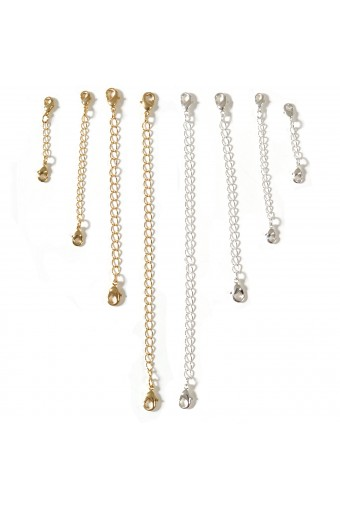 Chain Extender Set For Necklace or Bracelet 1.5 inch,3 inch,4 inch,6 inch-8 pcs