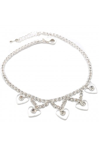 Topwholesalejewel Wedding Anklet Silver Crystal Anklet For Bride