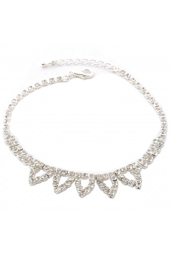 Topwholesalejewel Wedding Anklet Silver Crystal Anklet For Bride