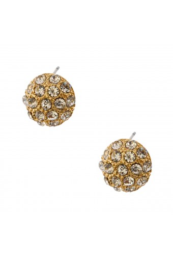 Fashion Jewelry Gold Plating Round Ball Stud Earrings