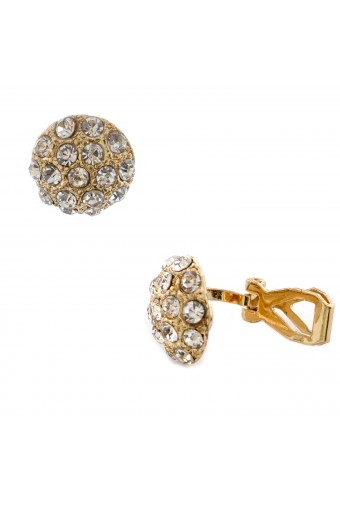 Fashion Jewelry Gold Plating Round Clip On Earrings