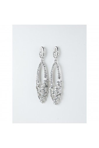 Rhodium Crystal Earring
