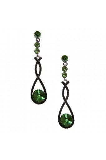 Fashion Earrings Rhodium Plating Peridot Dangle Earrings