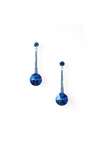 Silver Indicolite Earring