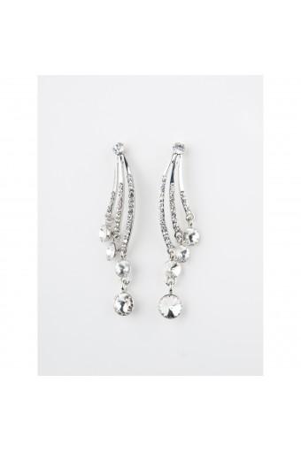 Rhodium Crystal Chandelier Earring