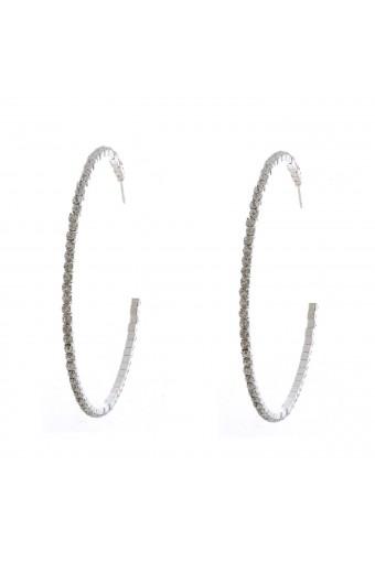 Topwholesalejewel Wedding Earrings Silver Plating Hoop Earrings