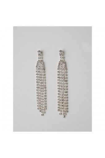 Silver Crystal Earring