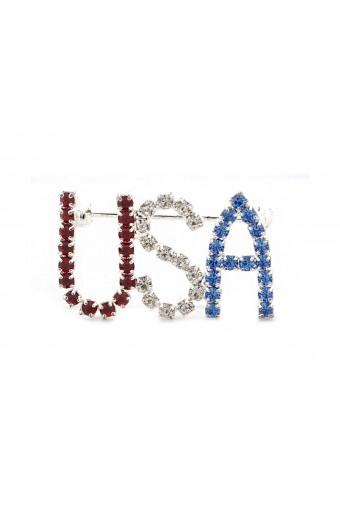 Silver USA Pin