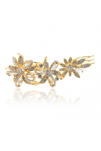 Bridal Gold Rhinestone Bridal Hair Comb