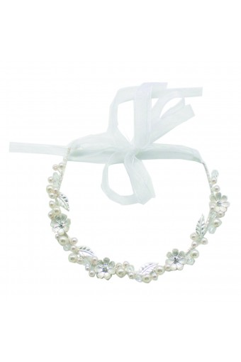 Fashion Jewelry Faux Pearl Accented Tiara