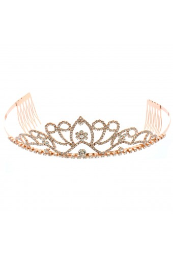 Topwholesalejewel Fashon Accessory Rose Gold Plating Princess Tiara